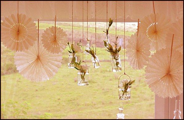 hanging jars paper pin wheels