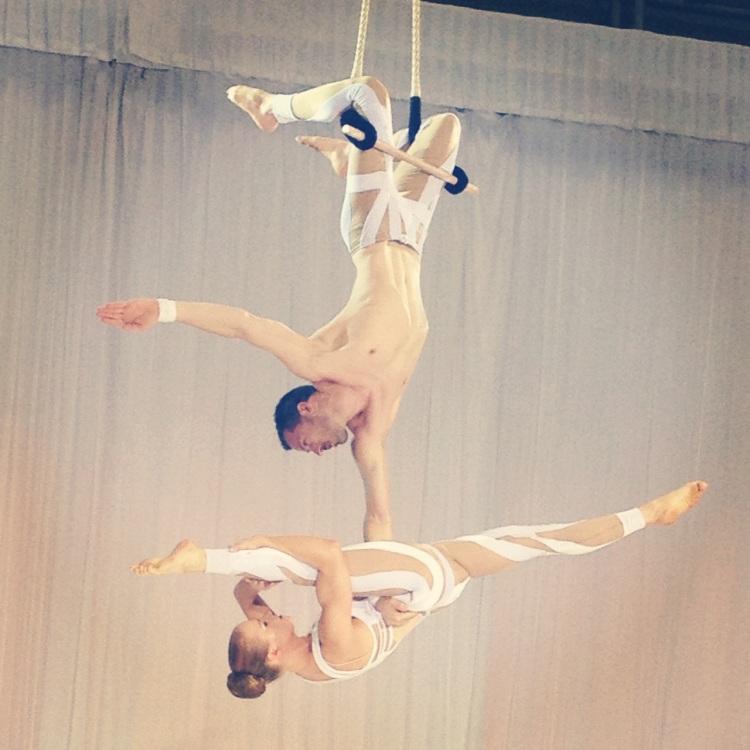 acrobatic runway show