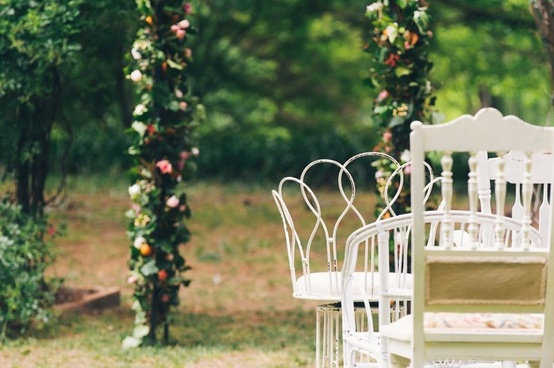 vintage wedding chairs