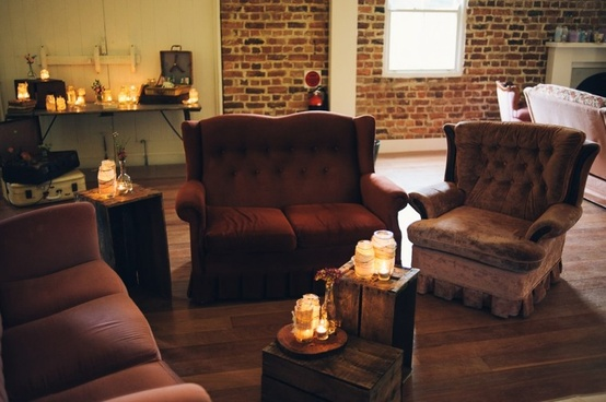 vintage lounges and candles