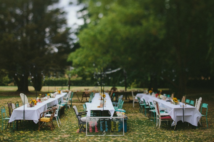 table wedding styling