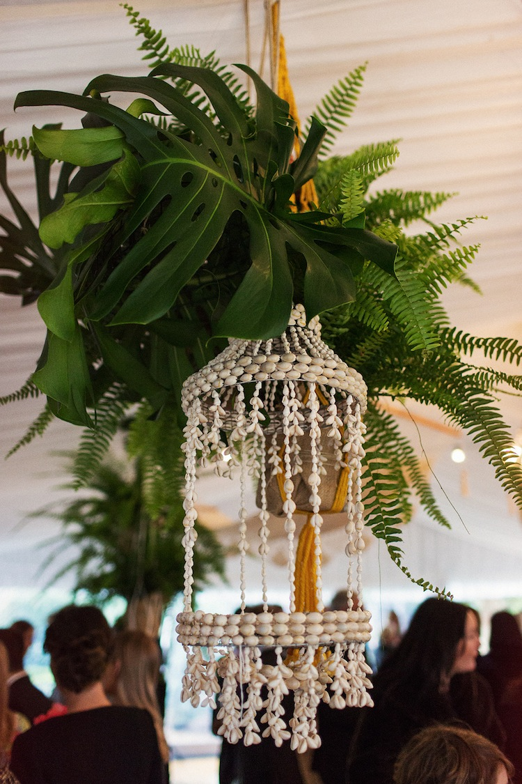 hanging plants south coast wedding styling